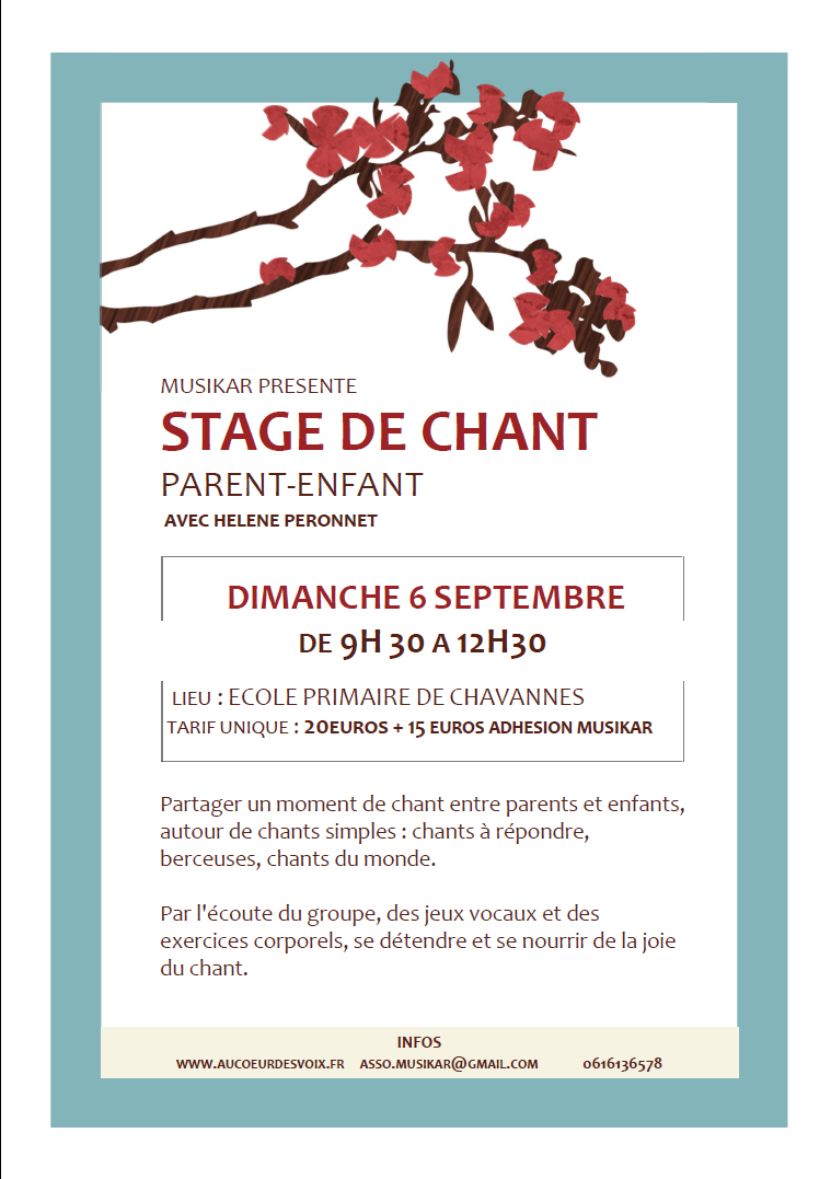 Stage de chant parent-enfant